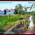 Affordable PROPERTY 1,100 m2 LAND IN CANGGU BALI FOR SALE TJCG193